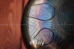 100% Handpan Tank Drum Tongue Ethno Steel 8 Tones 32 cm Handmade New Instrument