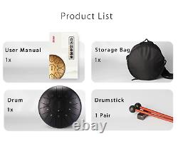 10 11 Notes D Tune Steel Tongue Percussion Drum Hand Pan Handpan Instrument