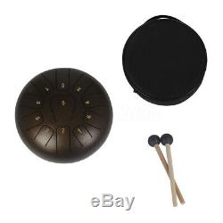 10'' 11 Notes Steel Tongue Drum Handpan Percussion Instrument With Bag Mallet