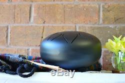 10 Inch Steel Tongue Drum Handpan Drum Hand Drum Instrument + Drum Mallets + Bag