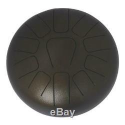 10 Inch Steel Tongue Drum Handpan Drum Hand Drum Percussion Instrument