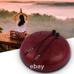 10 Inch Steel Tongue Drum Handpan Drum Hand Drum Percussion Instrument with Drum