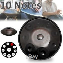 10 Notes Steel Tongue Drum Hand Pan Handmade Handrum Ethereal mystery 22 Inch