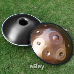 10'' Steel Handpan Drum 9 Notes Professional Folk Tongue Instrument+Music