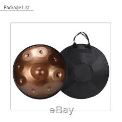10'' Steel Handpan Drum 9 Notes Professional Folk Tongue Instrument+Music