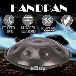 10'' Steel Handpan Drum 9 Notes Professional Folk Tongue Instrument+Music Mallet