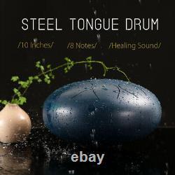 10'' Steel Tongue Drum Handpan D Major 8 Notes Hand Pan Tankdrum Christmas