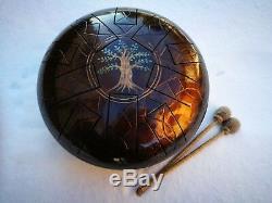 12 10 notes Tree of life Steel Tongue drum (Handpan, Hand drum, Tankdrum)