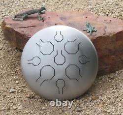 12 STAINLESS Steel Tongue Drum Handpan Vibedrum Natural Basic
