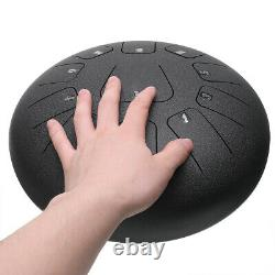 12'' Steel Tongue Drum Handpan 11 Notes D Major Scale Hand Tankdrum