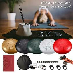 12 Steel Tongue Drum Handpan 13 Notes G Tune Percussion Drum with Bag Mallets Set
