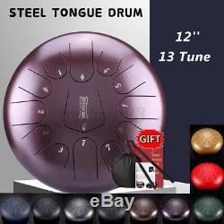 12'' Steel Tongue Drum Handpan 13 Notes Hand Tankdrum + Bag + Drumstick Gift