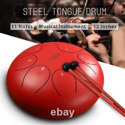 12'' Steel Tongue Drum Handpan C Major 8 Notes Hand Tankdrum With Bag