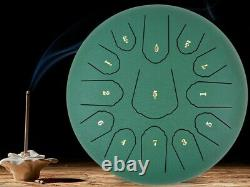 12 Steel Tongue Drum Handpan Drum 13 Notes Meditation with Bag Music Book Gr B1