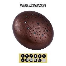 12'' Steel Tongue Drum Handpan Hand Drums 11 Notes Tankdrum + Mallets Bag C4W7