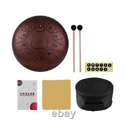 12'' Steel Tongue Drum Handpan Hand Percussion Instrument 11 Tone + Mallet B3Z5