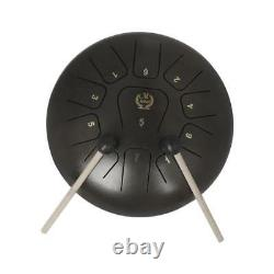 12'' Steel Tongue Drum Handpan with Mallets Bag for Yoga Meditation Coffee
