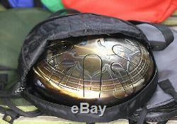 12 Steel Tongue Drum YOGA 10 notes (hand pan, tank drum, handpan, hank drum)