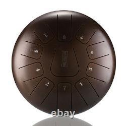 12'' Steel Tongue Hand Drum 11 Notes Handpan Tank Percussion Instrumet Bronze