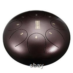 12'' Steel Tongue Hand Drum 11 Notes Handpan Tank Percussion Instrumet Bronze N