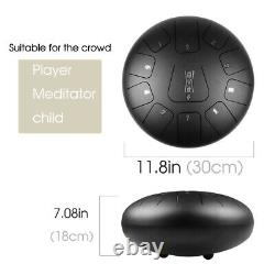 12 Steel Tongue Percussion Drum Handpan 11 Notes with Mallets Carry Bag Kit
