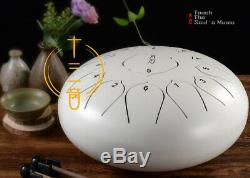 12'' Steel Tongue Tank Drum 13 Notes Hand Pan Folk Percussion Instrument