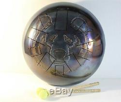 12 Steel Tongue drum BEAR 10 notes (hand pan, tank drum, handpan, hank drum)
