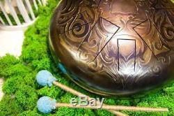 12 Steel Tongue drum LION 10 notes (hand pan, tank drum, handpan, hank drum)