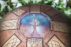 12 Tree of life 8 notes steel tongue drum Tank drum handpan