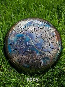 12 Yin Yang Lizards 10 notes steel tongue drum Tankdrum handpan