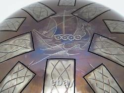 12 inch Steel Tongue Drum Handpan 13 Notes, 10 notes on Top, 3 on the bottom
