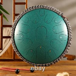 13 Inch 15 Notes Steel Tongue Drum Handpan Hand Drums Tankdrum With Drum Mallets