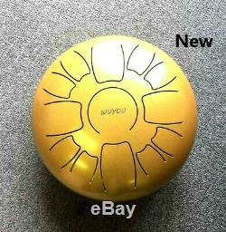 13 Note 12 Inch Gold Color Steel Tongue Drum Chakra Handpan Tank Pentatonic Drum