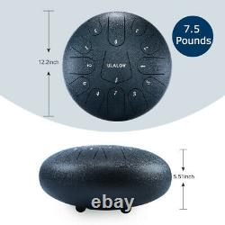 13 Note 12 Inch Tongue Drum Handpan Drum With Music Book Travel Bag Meditation
