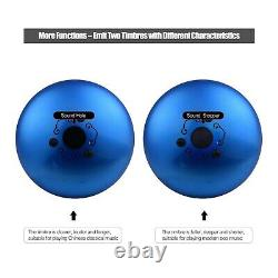 14Inch Steel Tongue Drum Hand Pan 15 Note D-Key Percussion Instrument With