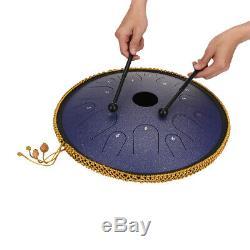 14 14 Note Purple Hand Pan Handpan Drum Manual Percussion Steel Tongues Brass C