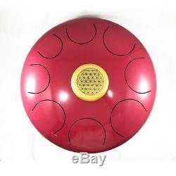 14 Extra Large Steel Tongue Drum Handpan Chakra Drum FREE CD+Bag +2 sticks Red