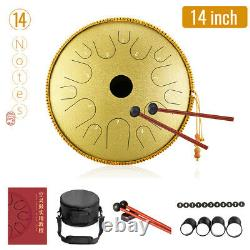 14 Inch 14 Notes Steel Tongue Drum Handpan Hand Drums Tankdrum With Drum Mallets