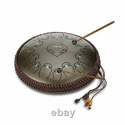 14 Inch 15 Note Steel Tongue Drum Percussion Instrument Lotus Hand Pan Drum w
