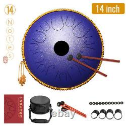 14 Inch Steel Tongue Drum 14 Notes Handpan Hand Drums Tankdrum With Drum Mallets