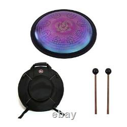 14-inch UU Drum Hand Pan D-Minor Alloy Steel Tongue 9 Double-Tone Percussion