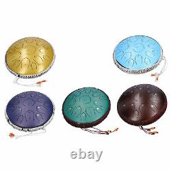 14in 15 Tone D Steel Tongue Drum 35.56cm with Bag Mallets Bracket for Meditation