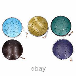 14in 15 Tone D Steel Tongue Drum Handpan Percussion Instrument withBag Drum Mallet