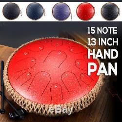 15 Notes Professional Pan Drum D Key Steel Tongue Manual Percussion Handpan