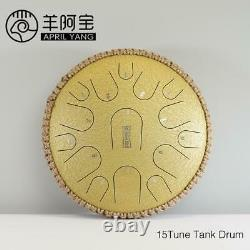 15 Tune Hand Pan Tank Drum Sound 13 Inch Steel Tongue Pad Sticks Carrying Bag
