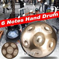 18 Steel Tongue Drum Handpan Hand Drums 6 Notes Material Percussion withbag