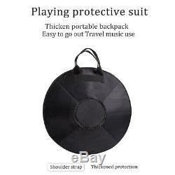 22'' Professional 10 Notes Handmade Steel Tongue Drum Handpan Hand Pan + Bag