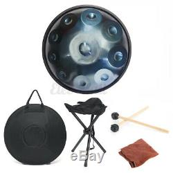 22 inch Professional 10 Notes Handdrum Handmade Carbon Steel Tongue Drum + Bag