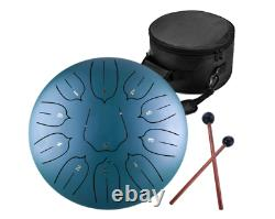 30 CM Steel Tongue Drum 11 Notes 12 inches Percussion Instrument Handpan with Bag