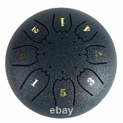 8-Tone Steel Tongue Drum 6 Tongue C Key Hand Pan Mallets Carry Bag Accessory